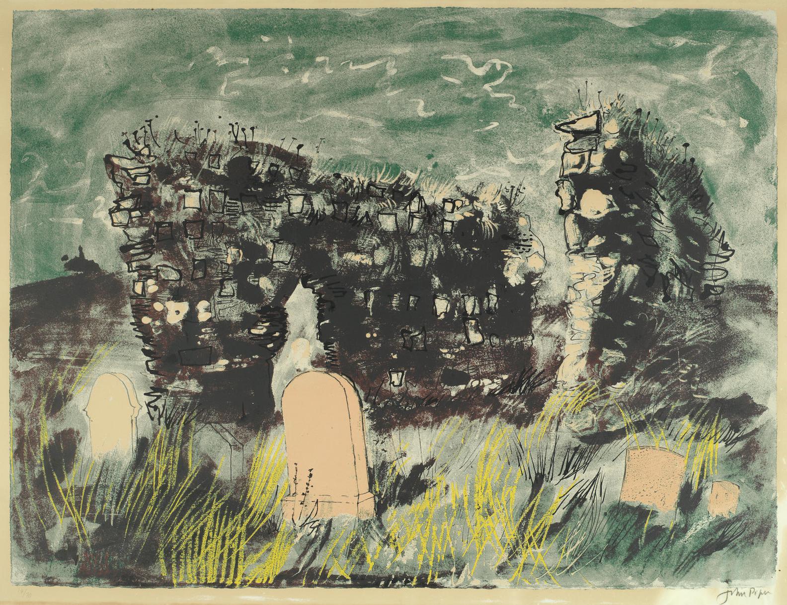 John Piper-Ruined Chapel, Isle Of Mull (Levinson 249)-1975