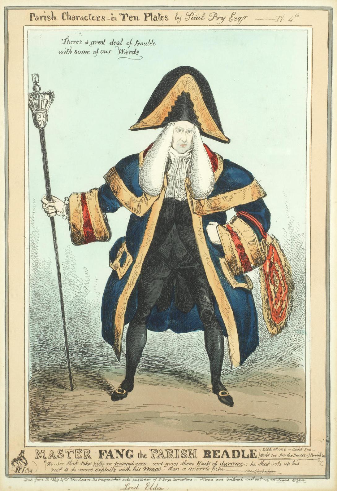 William Heath-Parish Characters In Ten Plates-1829