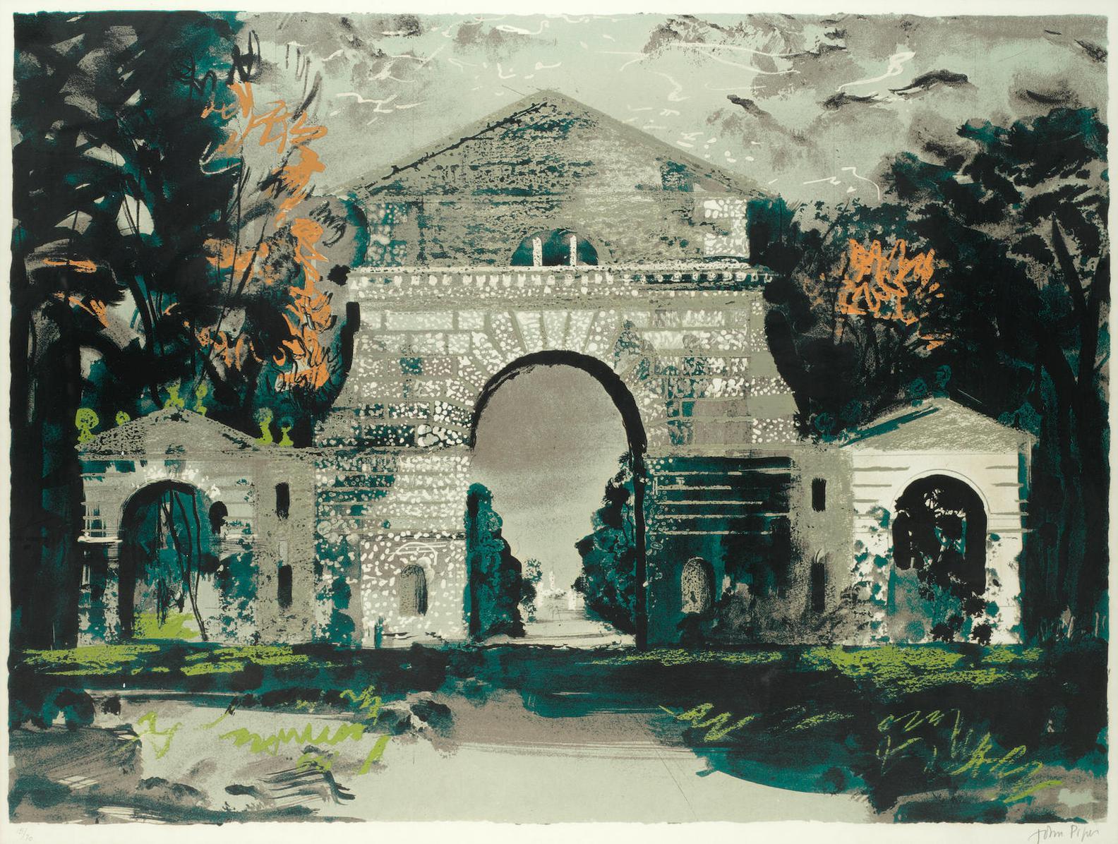 John Piper-Holkham Gate, Norfolk (Levinson 262)-1976