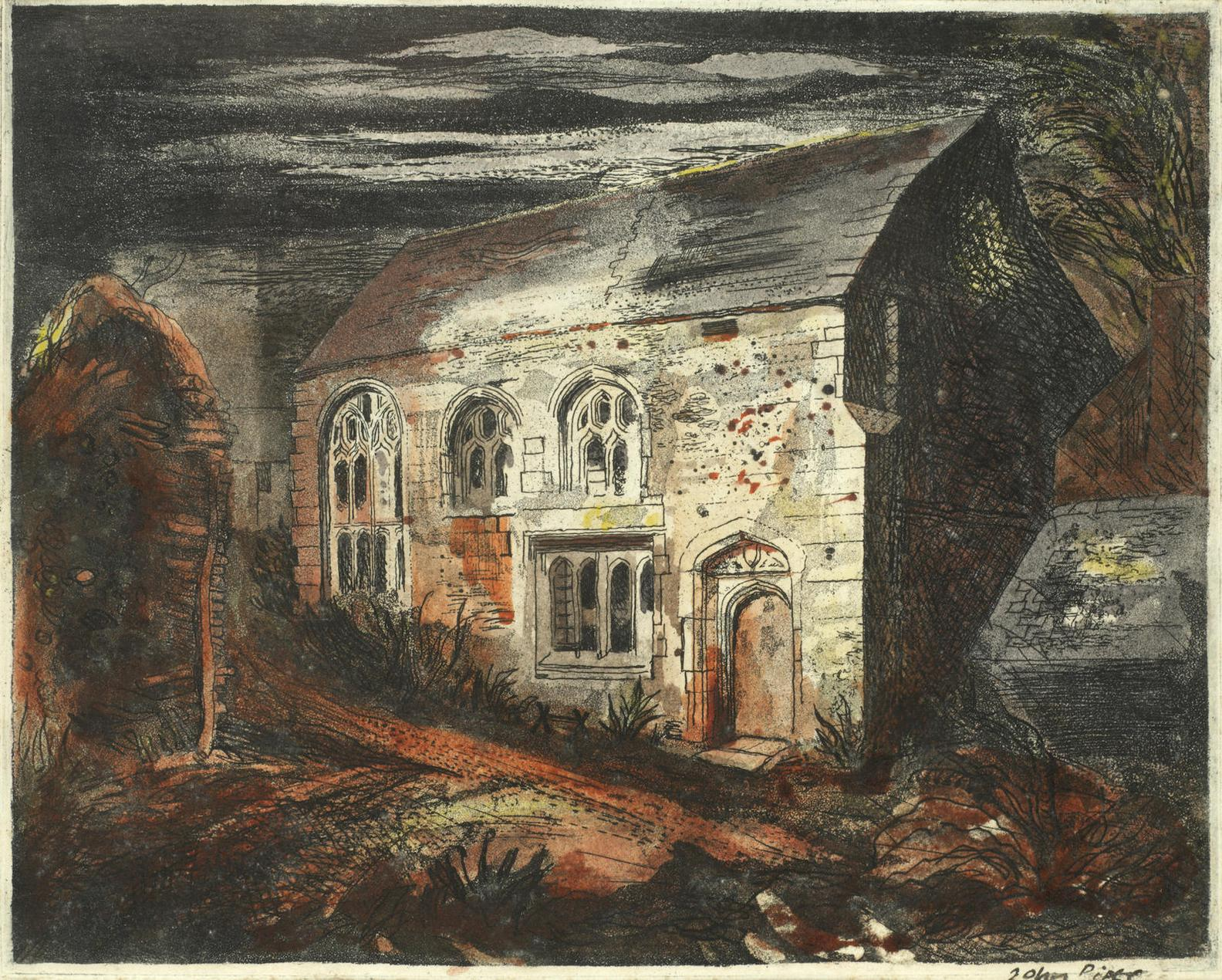 John Piper-The Hall, Trecarrel, Cornwall (Levinson 30)-1943