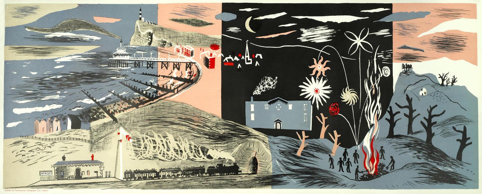 John Piper-Nursery Frieze Ii (Levinson 9)-1936