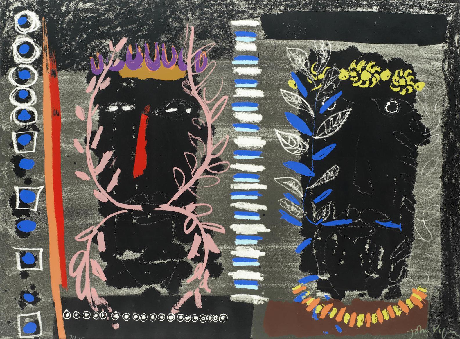 John Piper-Foliate Heads I (Levinson 245)-1975