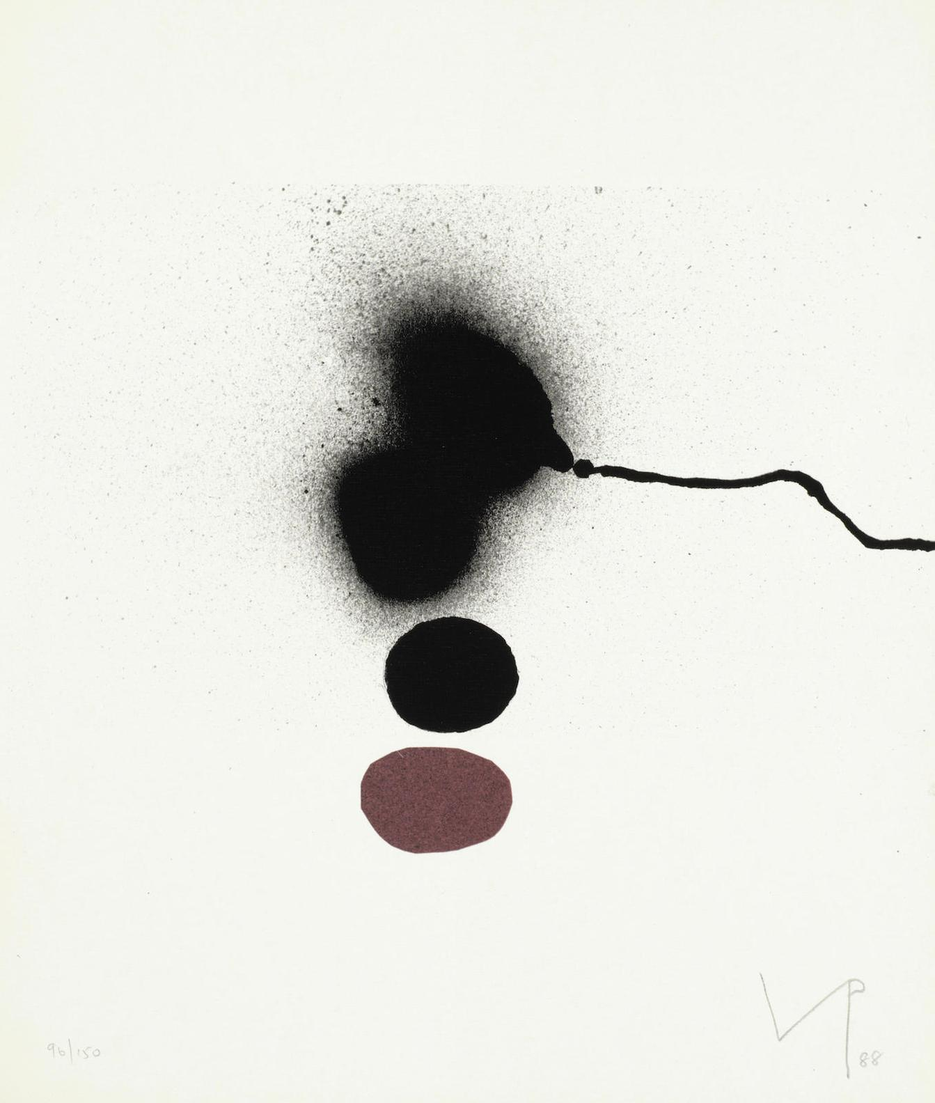 Victor Pasmore-Burning Waters, From Visual And Poetic Images (Lynton G.48)-1988