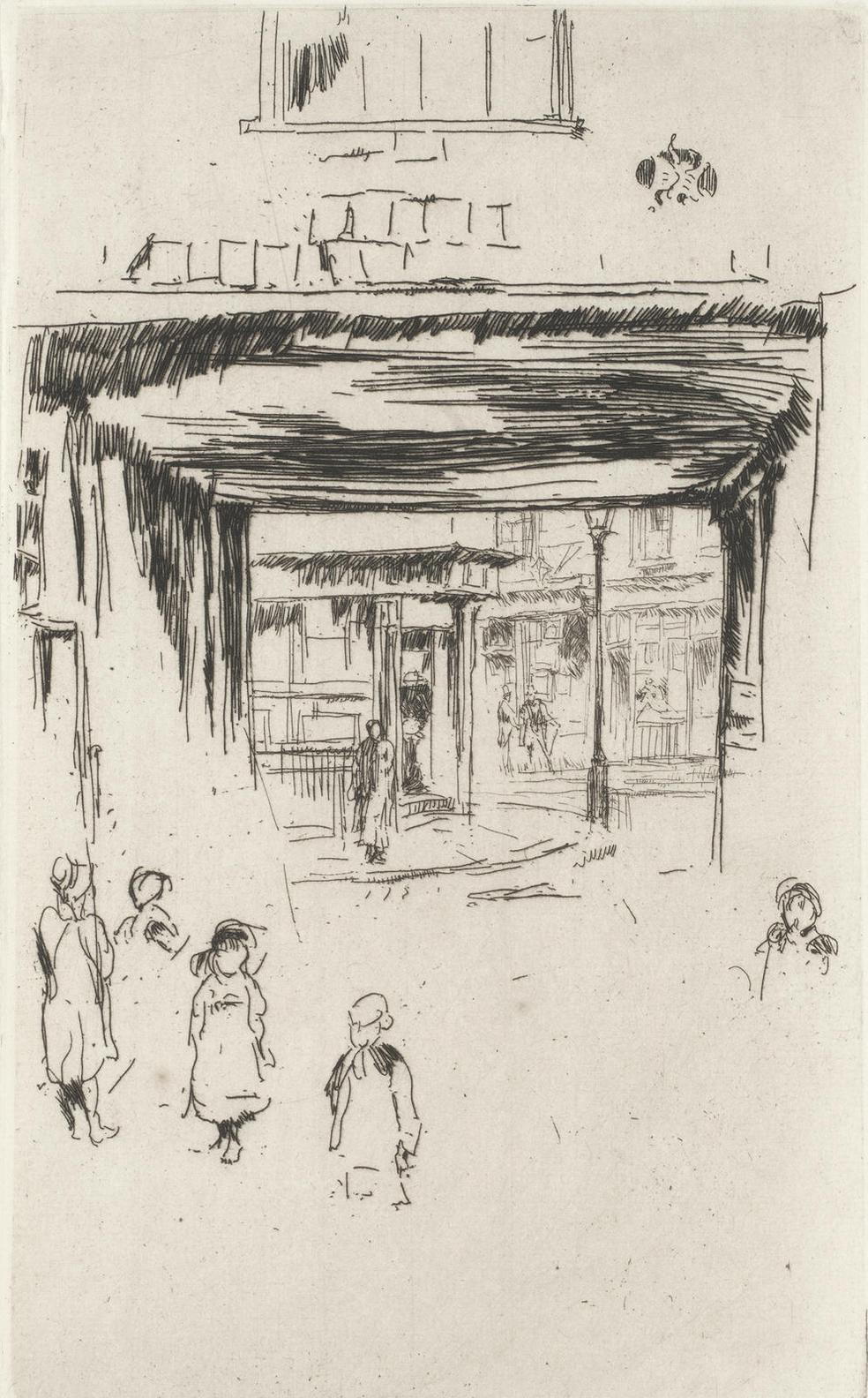 James Abbott McNeill Whistler-Drury Lane, From A Set Of Twenty-Six Etchings (Second Venice Set) (Kennedy 237; Glasgow 243)-1881