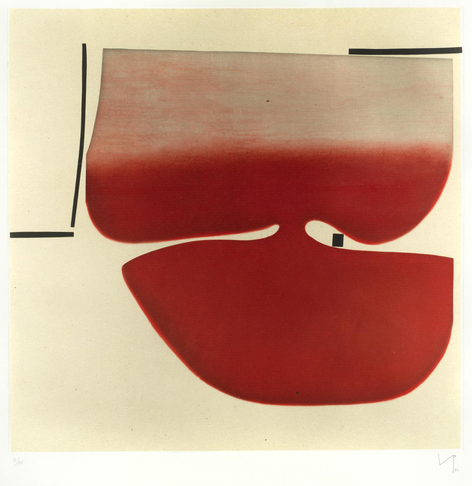 Victor Pasmore-Senza Titolo (Red) (Lyntong.14)-1982