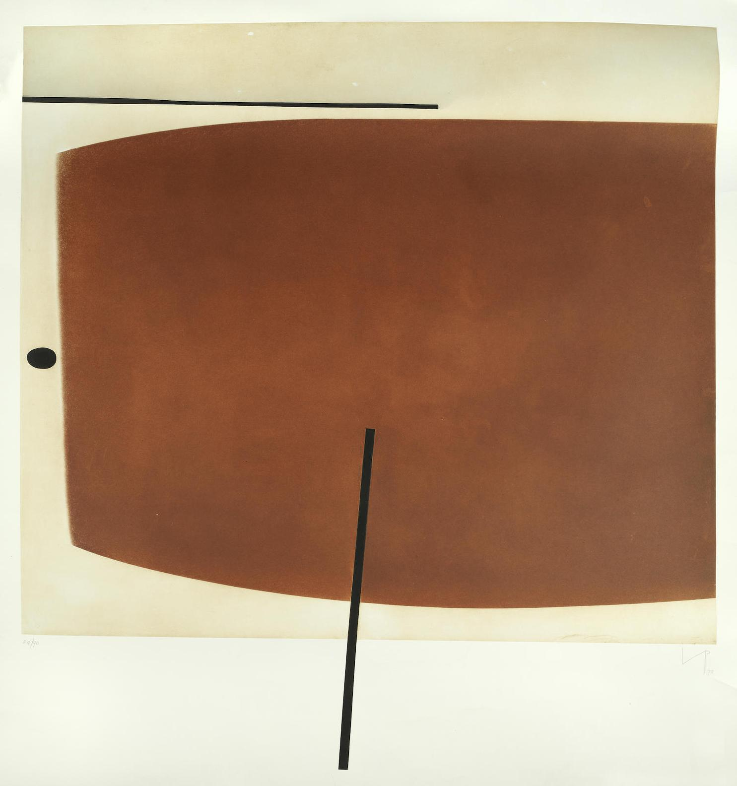 Victor Pasmore-Brown Image Two(T.&H.; 73)-1978