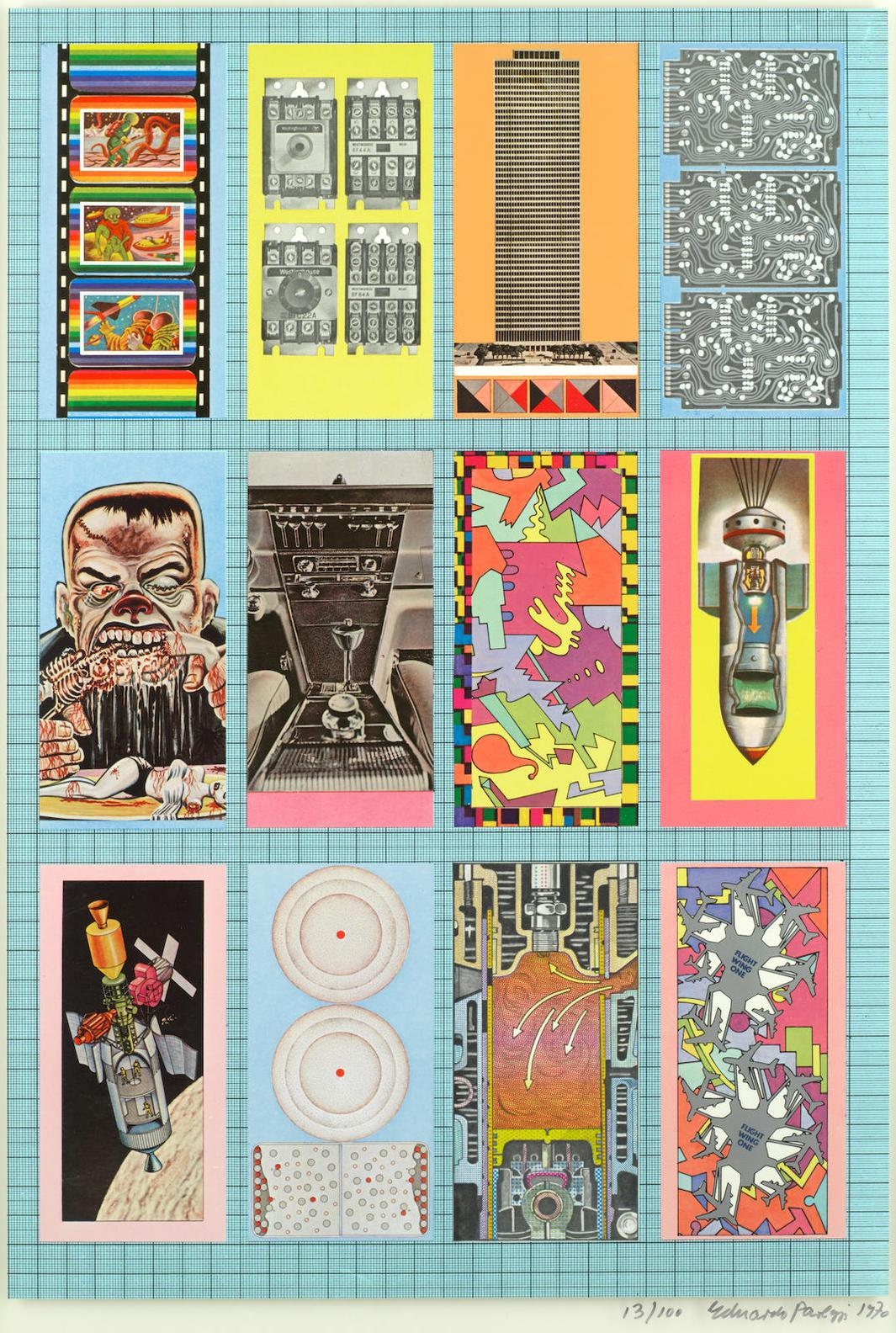 Sir Eduardo Paolozzi - Will The Future Ruler Of The Earth Come Forward From The Ranks Of The Insects, From Zero Energy Experimental Pile-1970