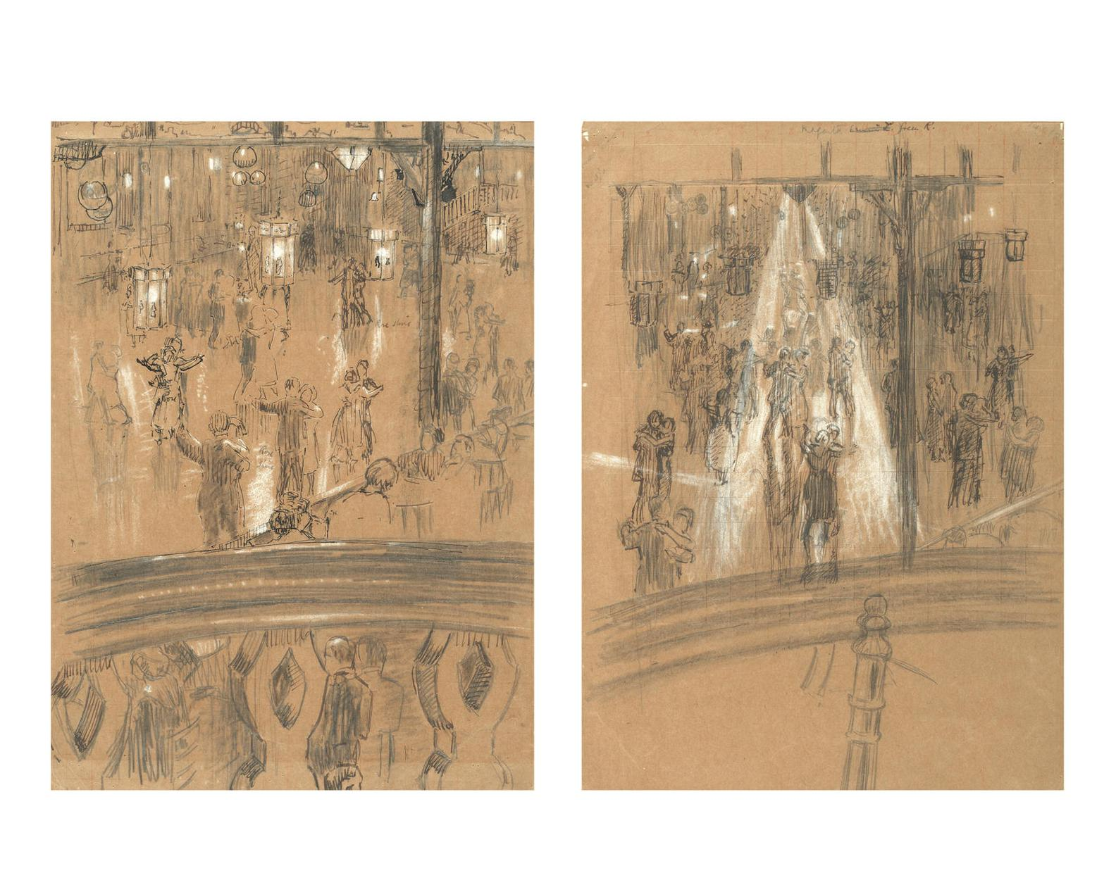 Malcolm Drummond - Studies For The Palais De Danse And Limelight Nights-1920