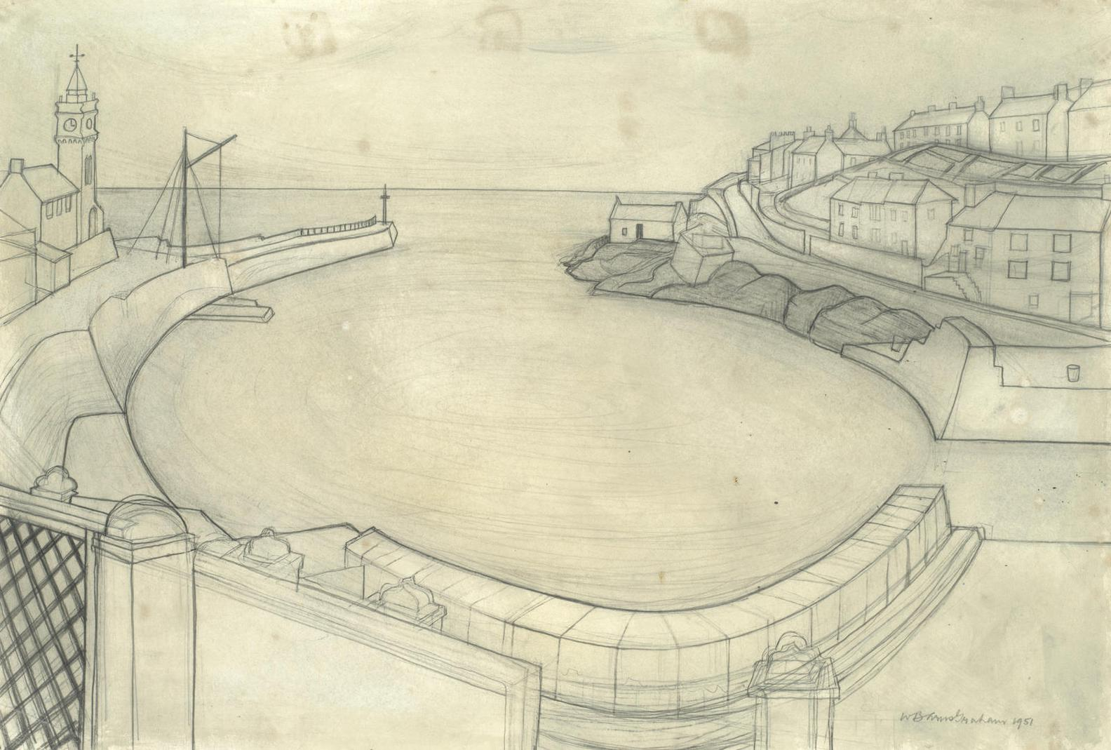 Wilhelmina Barns-Graham-Porthleven (Study For Large Painting)-1951