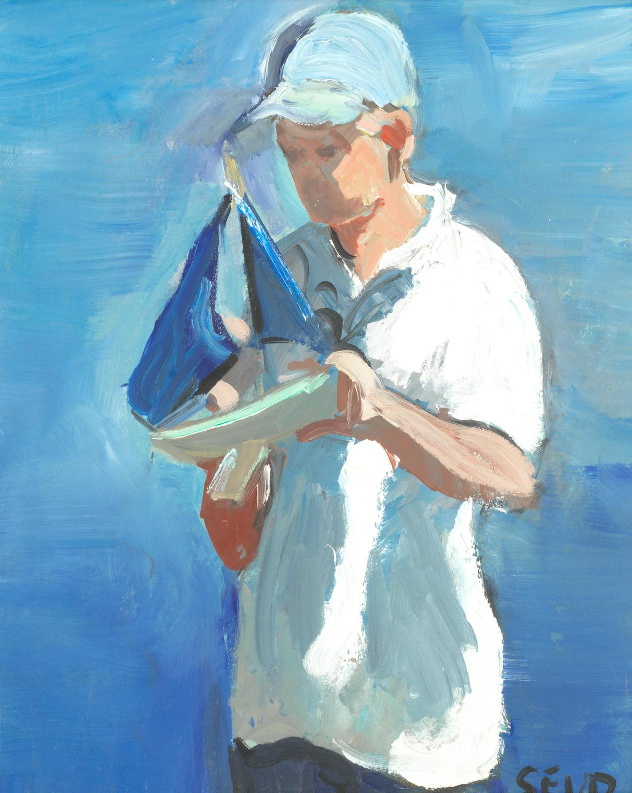 Sherree Valentine-Daines - A Boy With His Model Boat-
