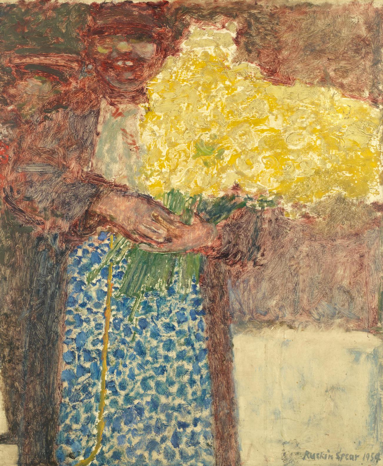 Ruskin Spear-Lady With Bouquet Of Daffodils-1954