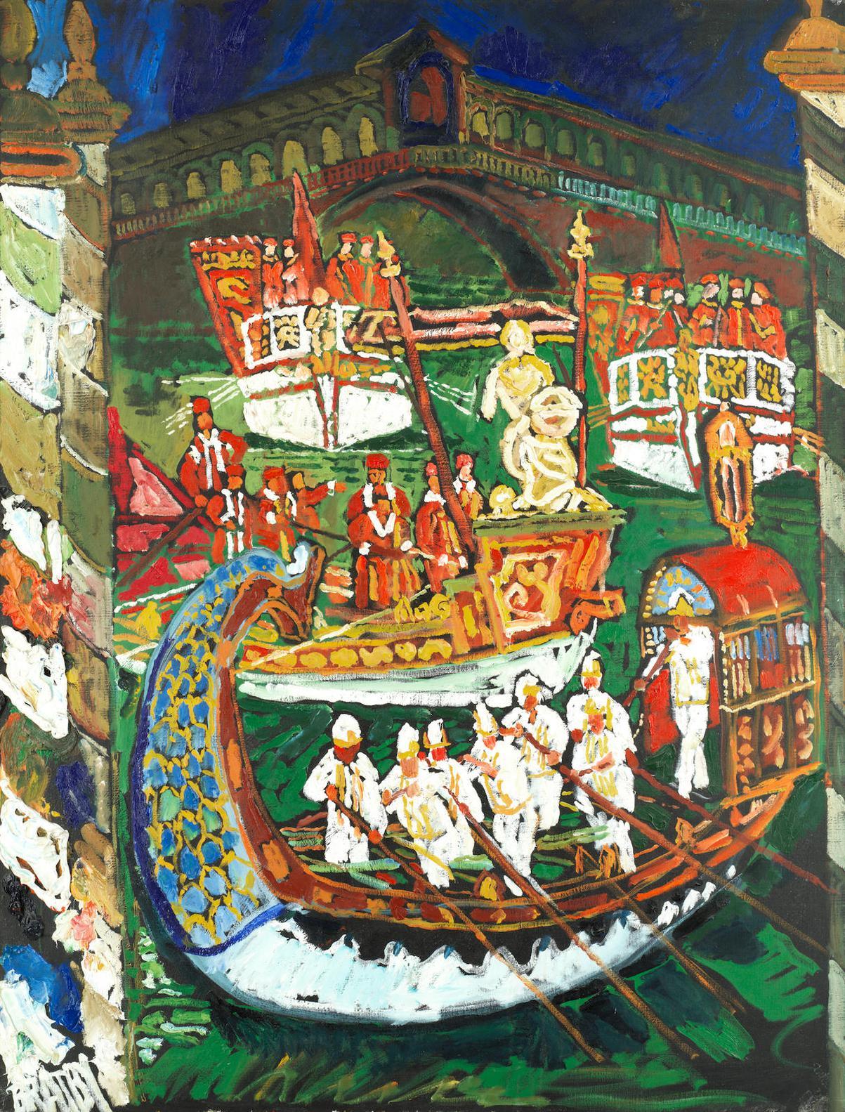 John Bratby-Venice Regatta-