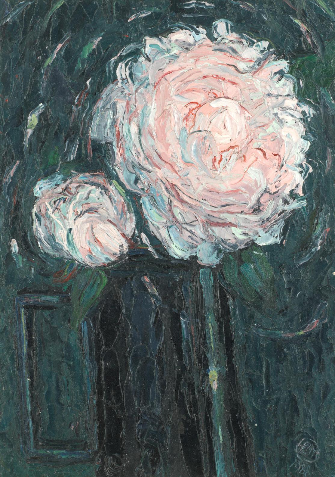 Leonard Mccomb - Camellias In A Black Jug-1988