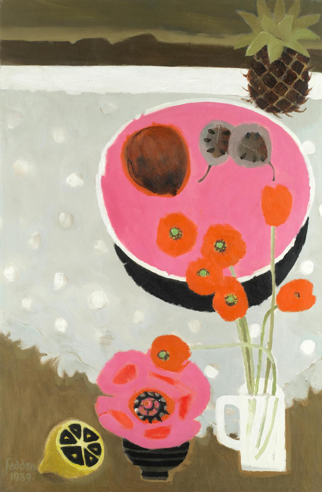 Mary Fedden-Orange Poppies-1989