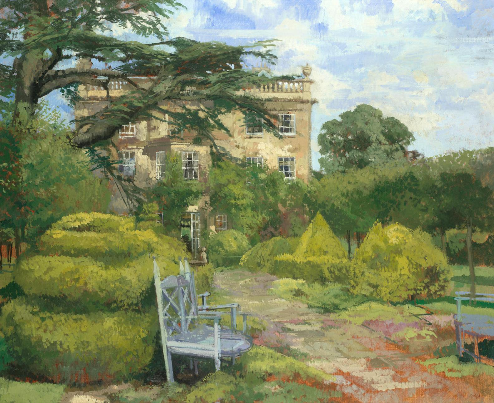 Peter Kuhfeld - White Bench, Highgrove House-