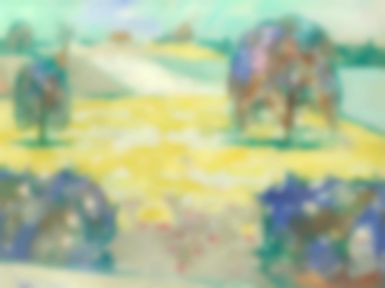 Julian Trevelyan-Landscape At Thury (Yonne)-1949