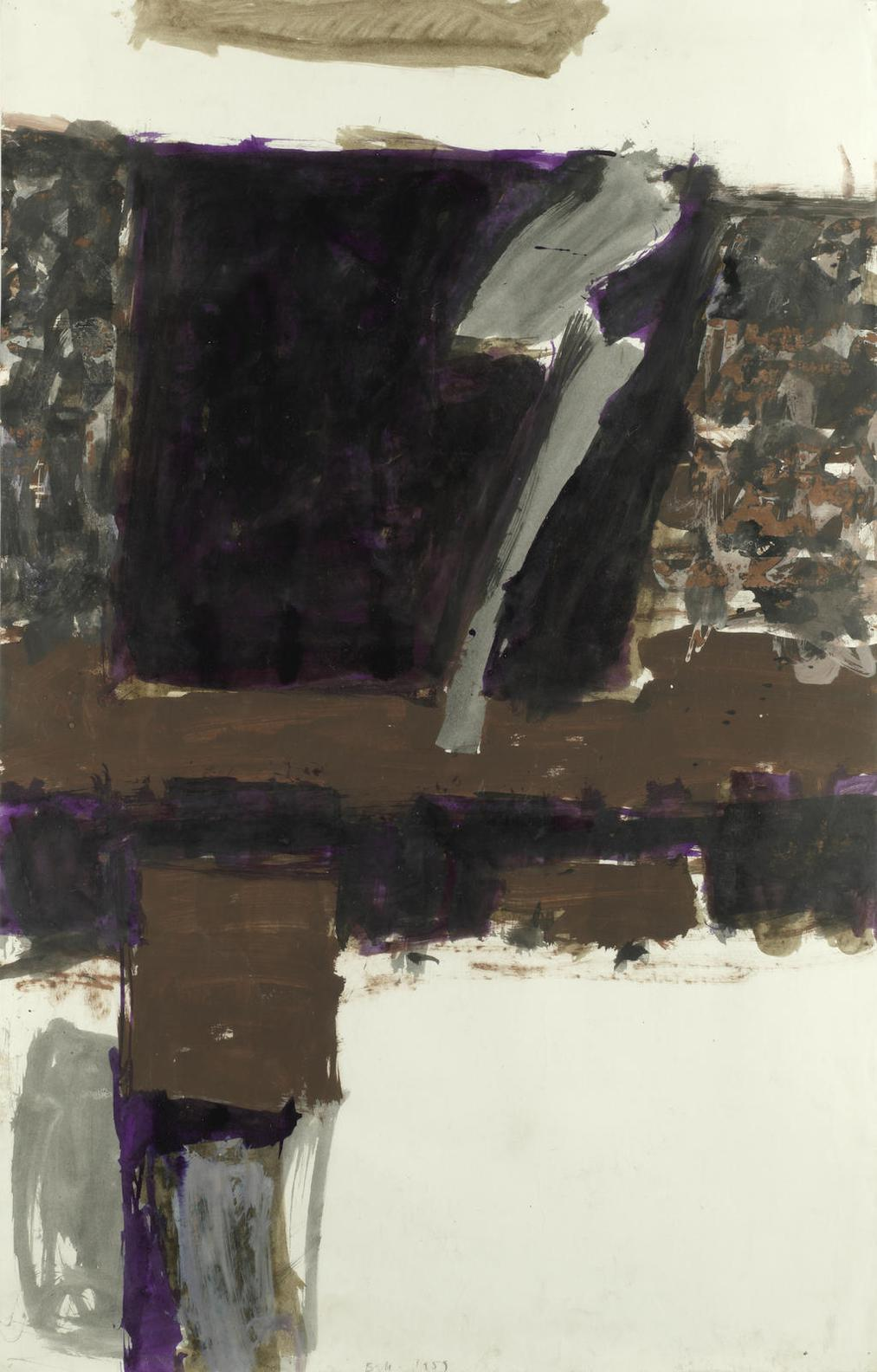 Trevor Bell-Composition In Brown And Purple-1959