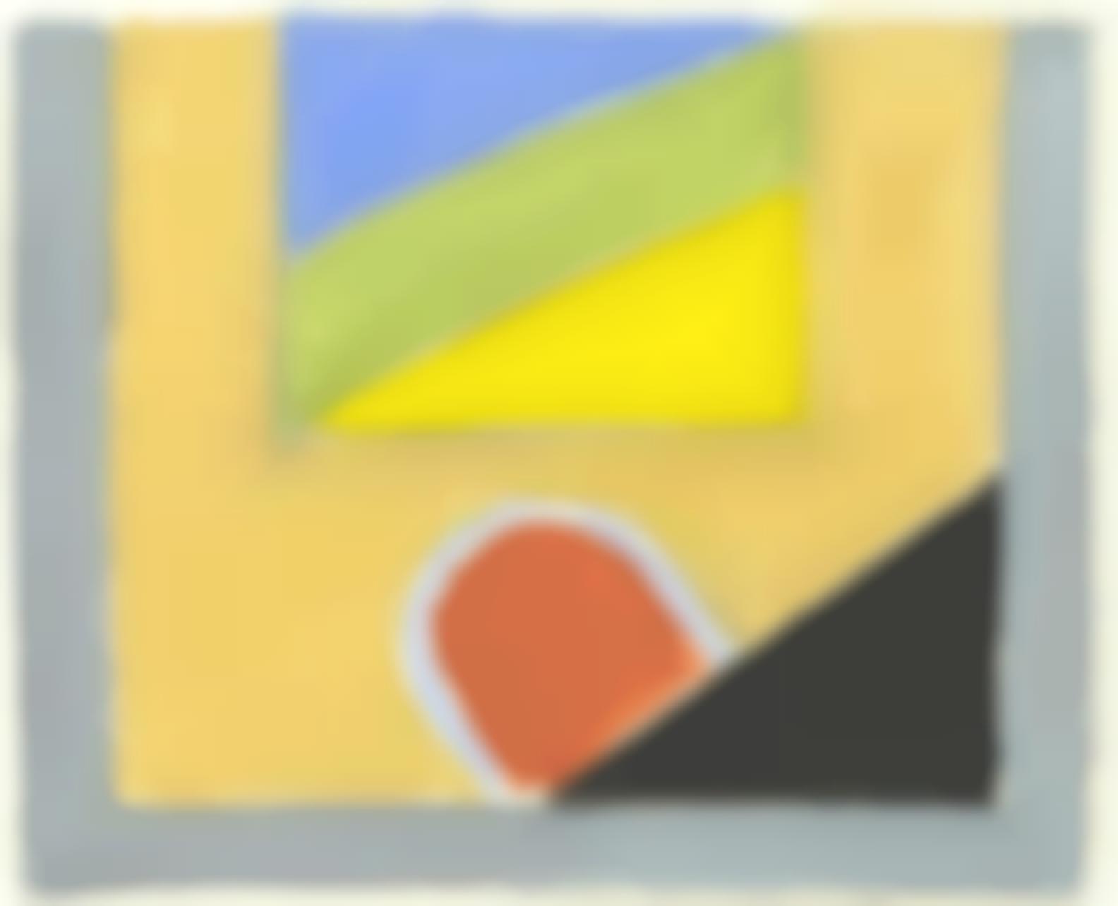 Peter Kinley-Study For Studio Window II-1975