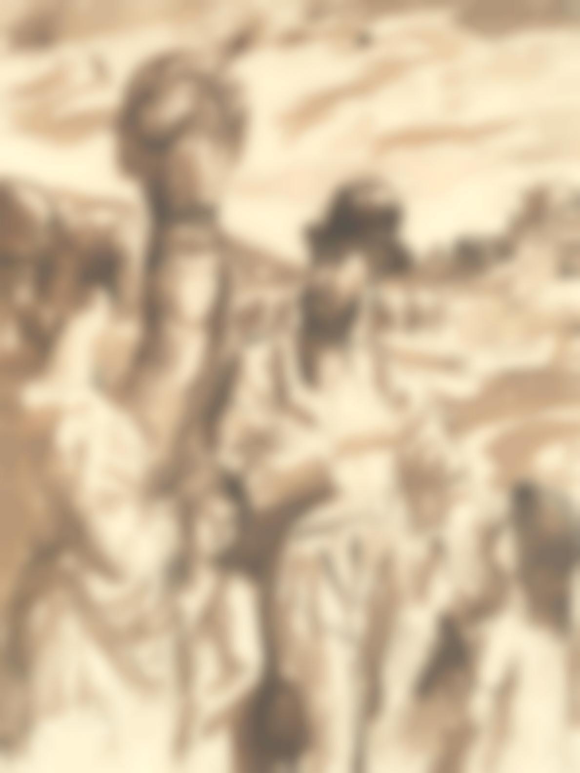 Augustus Edwin John-Composition With Peasants-1943