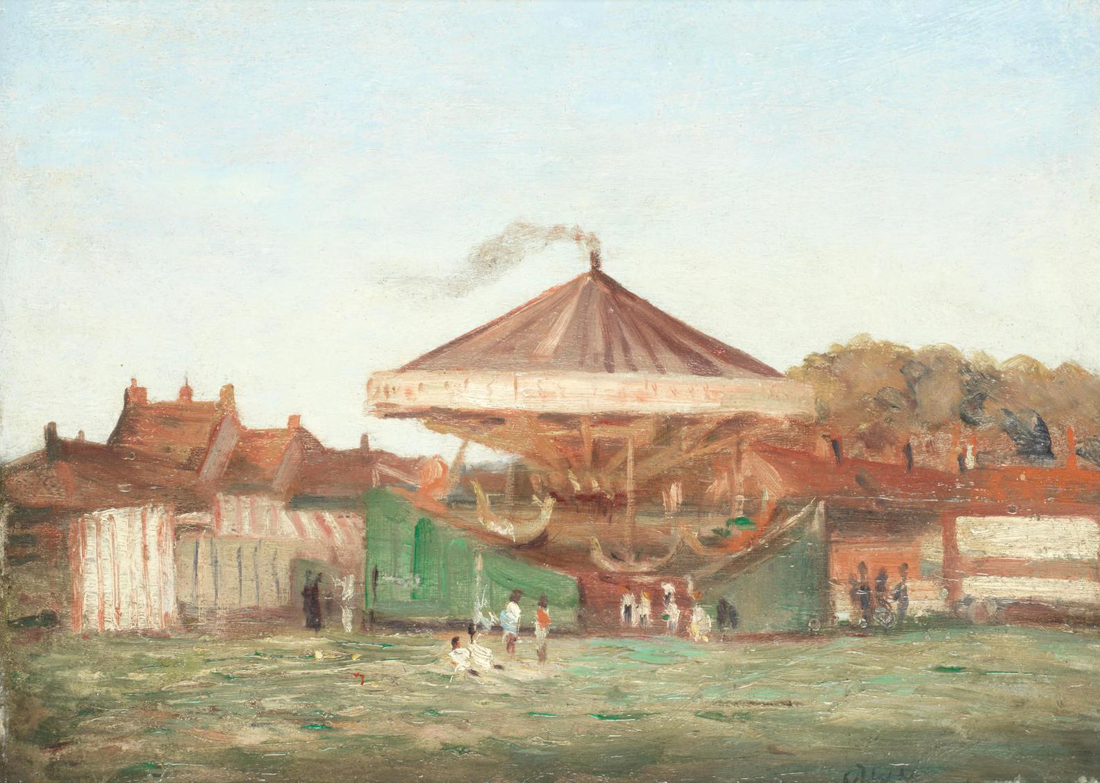 Christopher Richard Wynne Nevinson A.R.A - The Fair, Hampstead Heath-