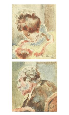 Walter Richard Sickert-Sketches For Baccarat-1920