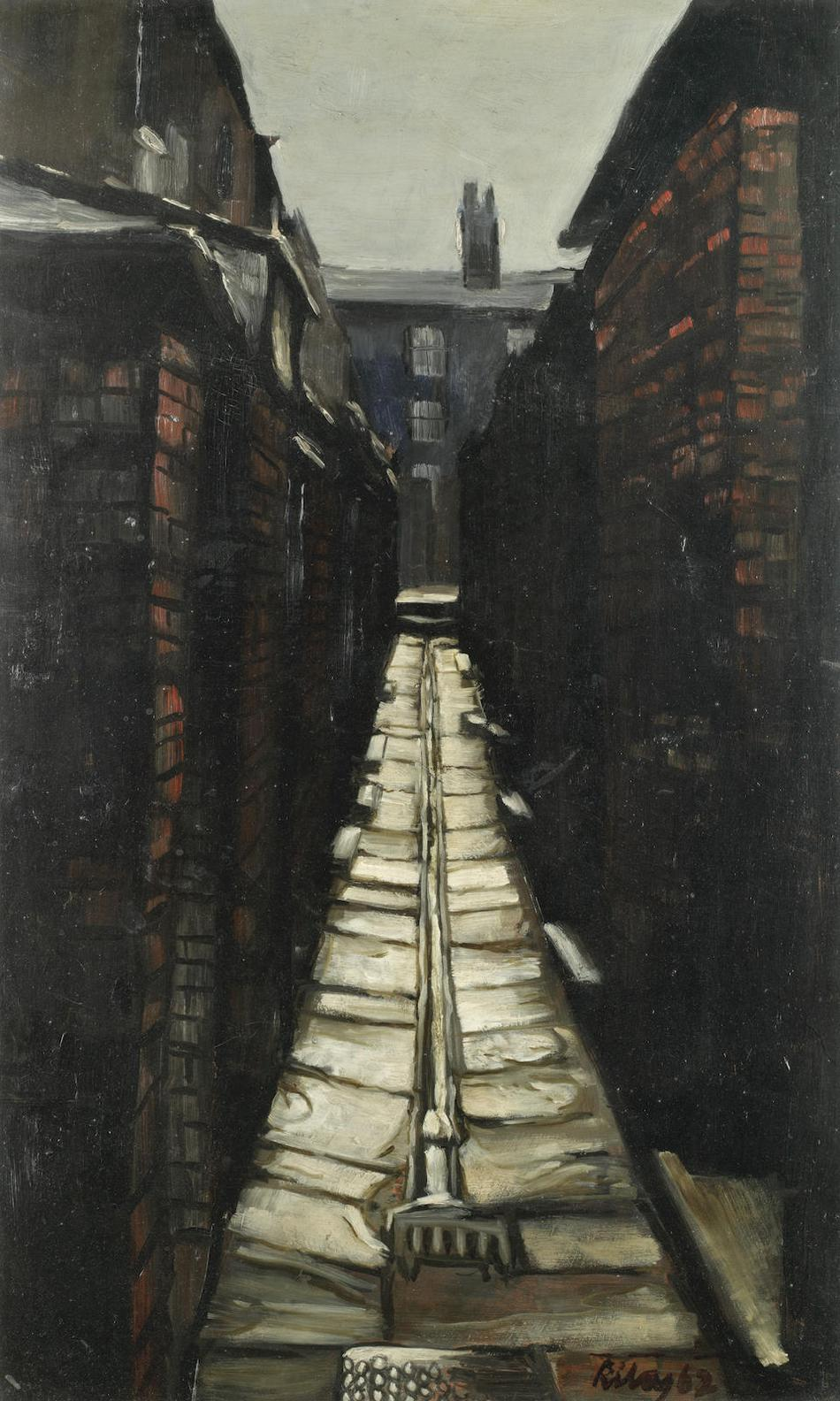 Harold Riley-The Passage Leading To Lancaster Road, Salford-1962