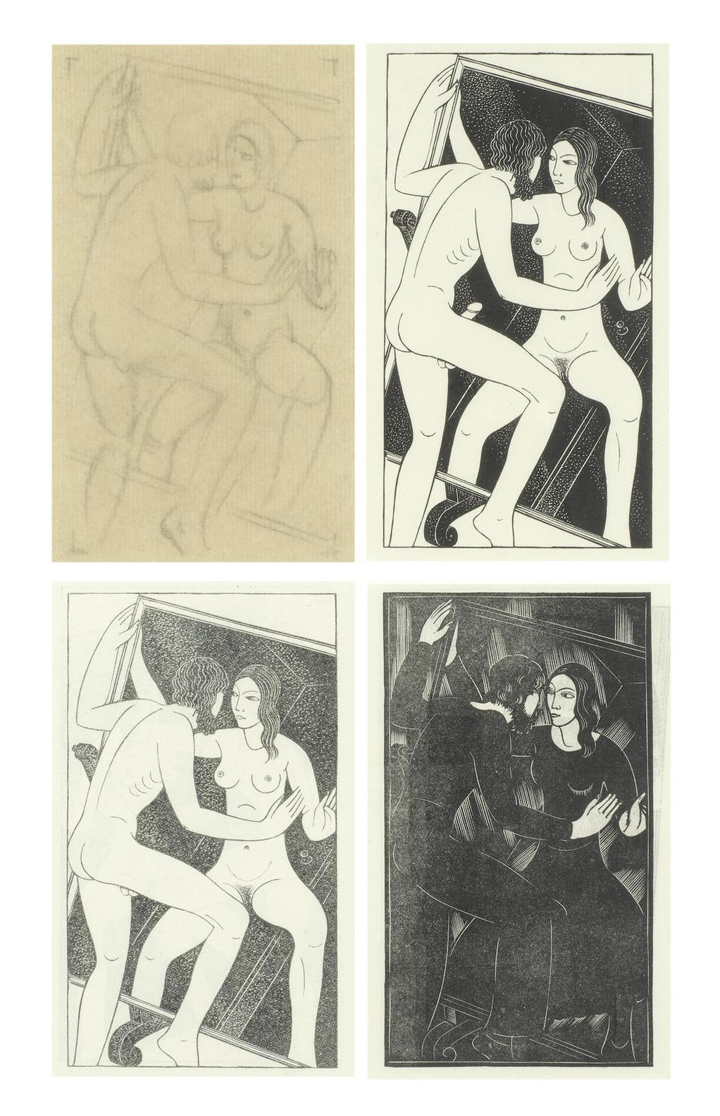 Eric Gill-Artist And Mirror-1932