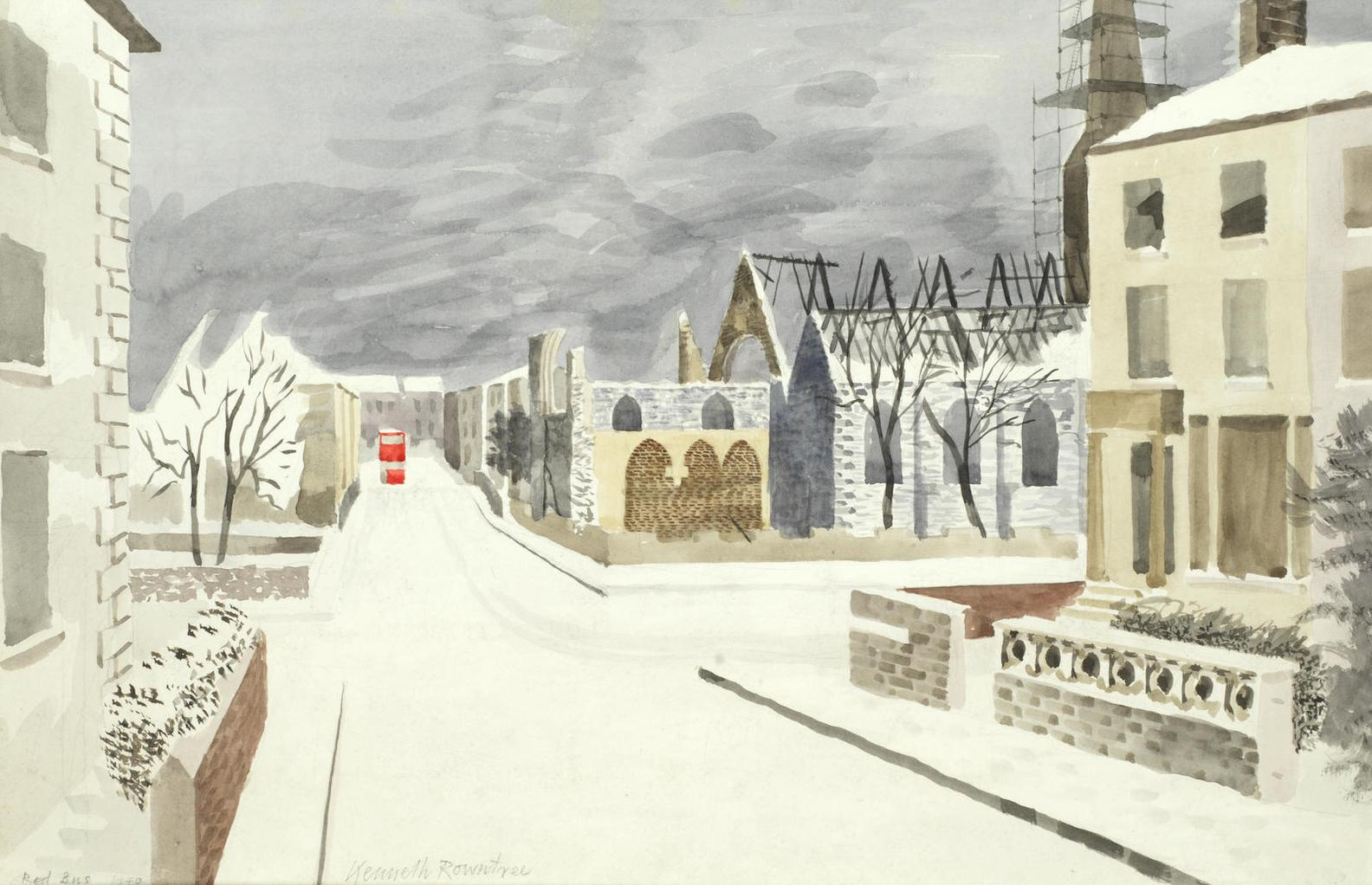 Kenneth Rowntree - Red Bus-1940