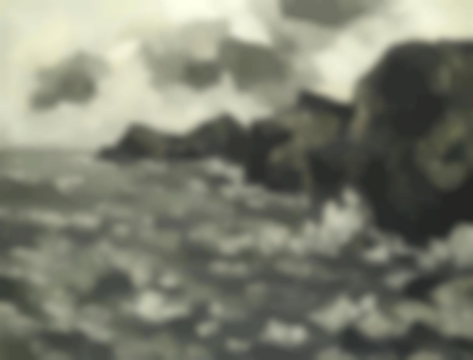 Sir Kyffin Williams - Rough Sea, Rhoscolyn-1966
