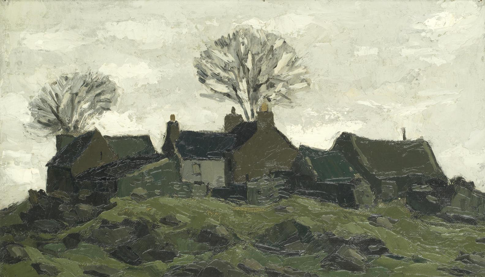 Sir Kyffin Williams - Anglesey Farm-
