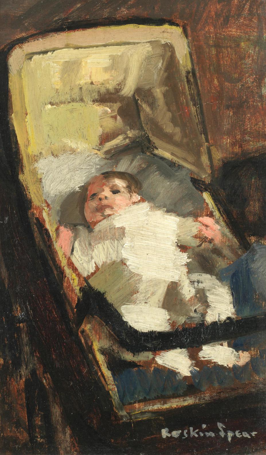 Ruskin Spear-Baby In Pram-1943