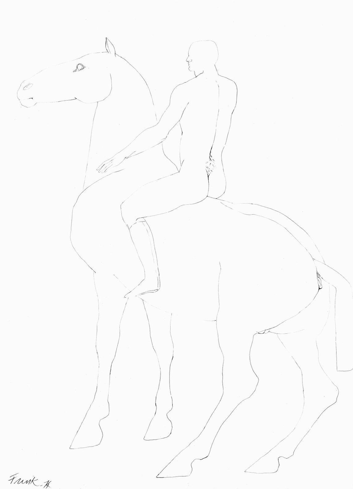 Elisabeth Frink-Horse And Rider-1974
