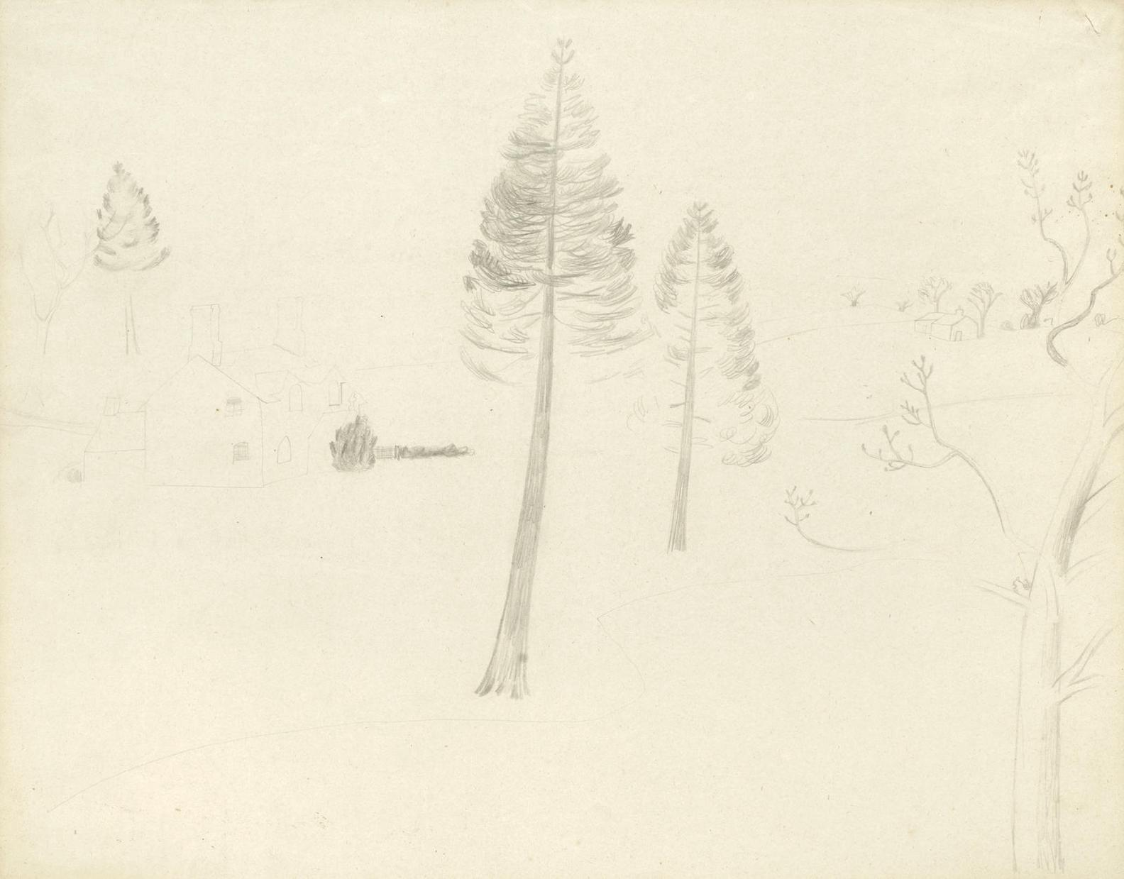 Ben Nicholson-Sketch For Walton Wood Cottage, Cumberland-1928