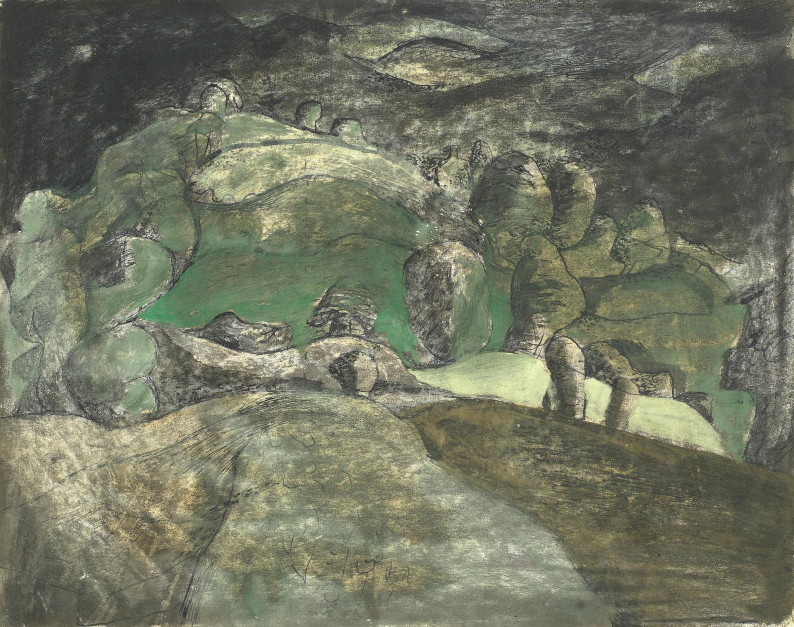 John Craxton-Dorset Landscape-1941