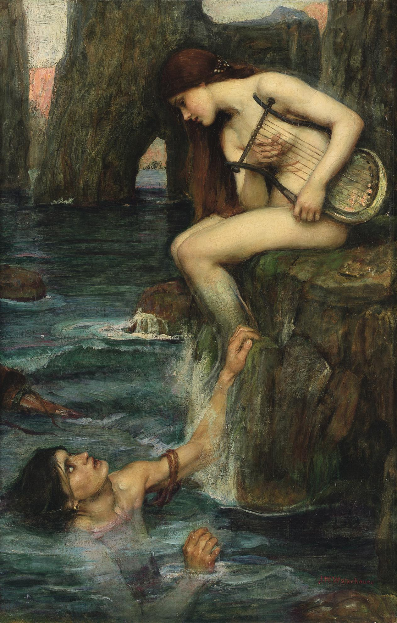 John William Waterhouse R.I. - The Siren-