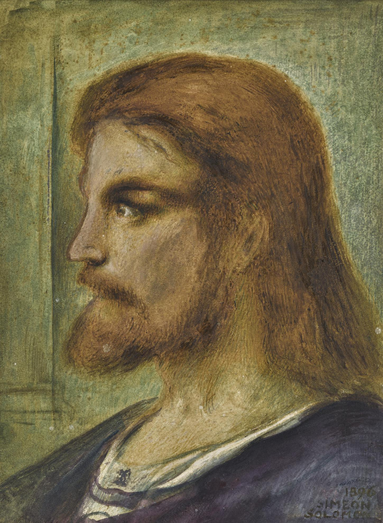 Simeon Solomon - Head Of Christ-1896