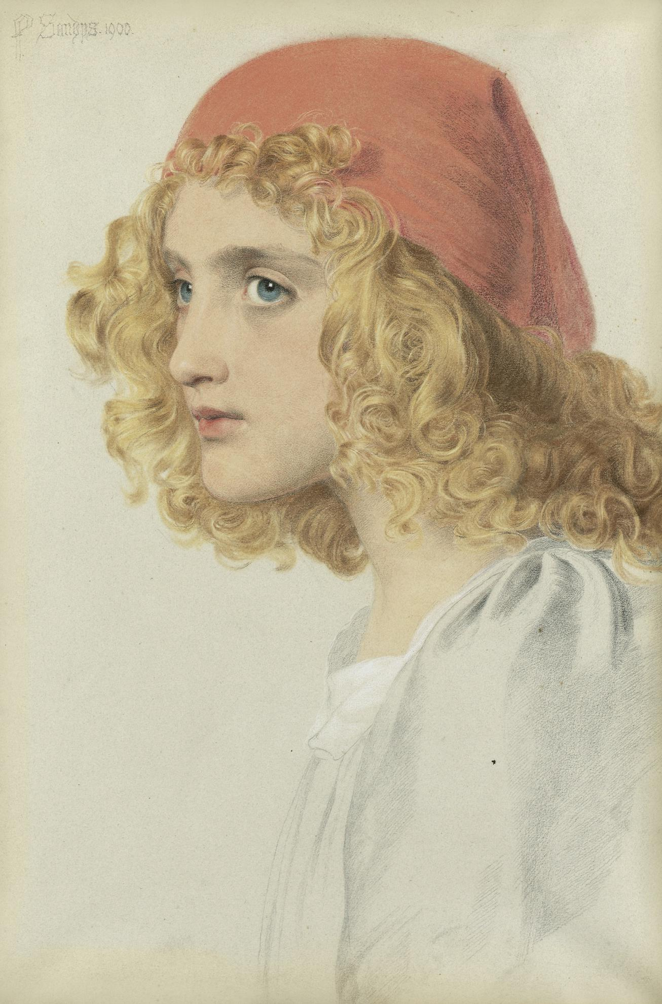 Anthony Frederick Augustus Sandys - The Red Cap-1900