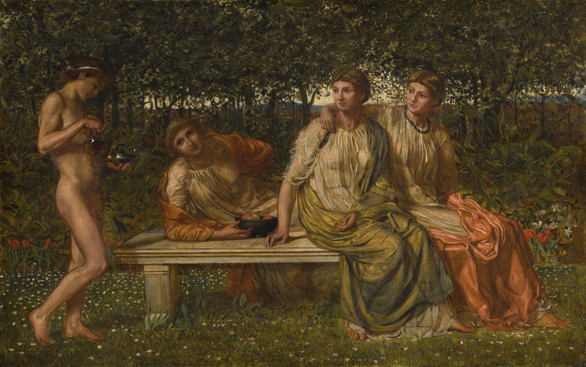 Albert Joseph Moore - The Marble Seat-