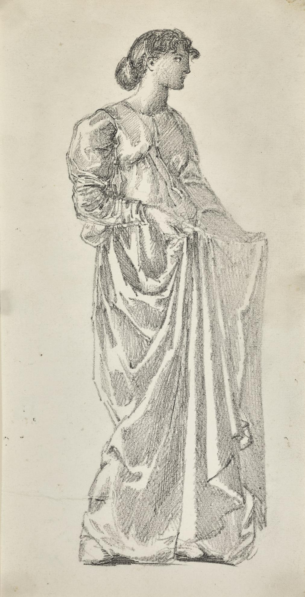 Sir Edward Coley Burne-Jones Bt. - Study For The Garland-