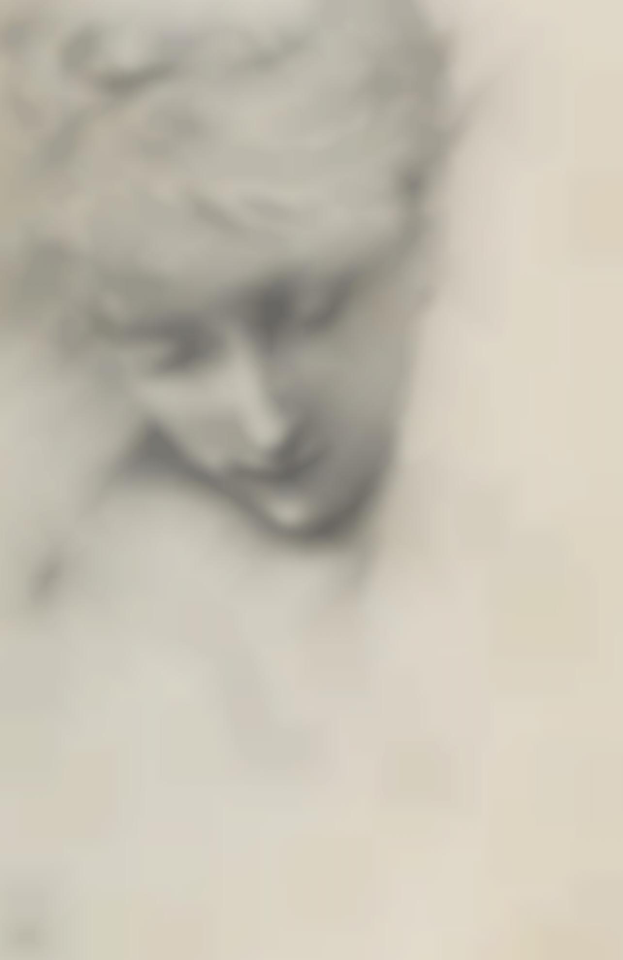 Sir Edward Coley Burne-Jones Bt. - Study Of A Female Head In The Garden Court-1888