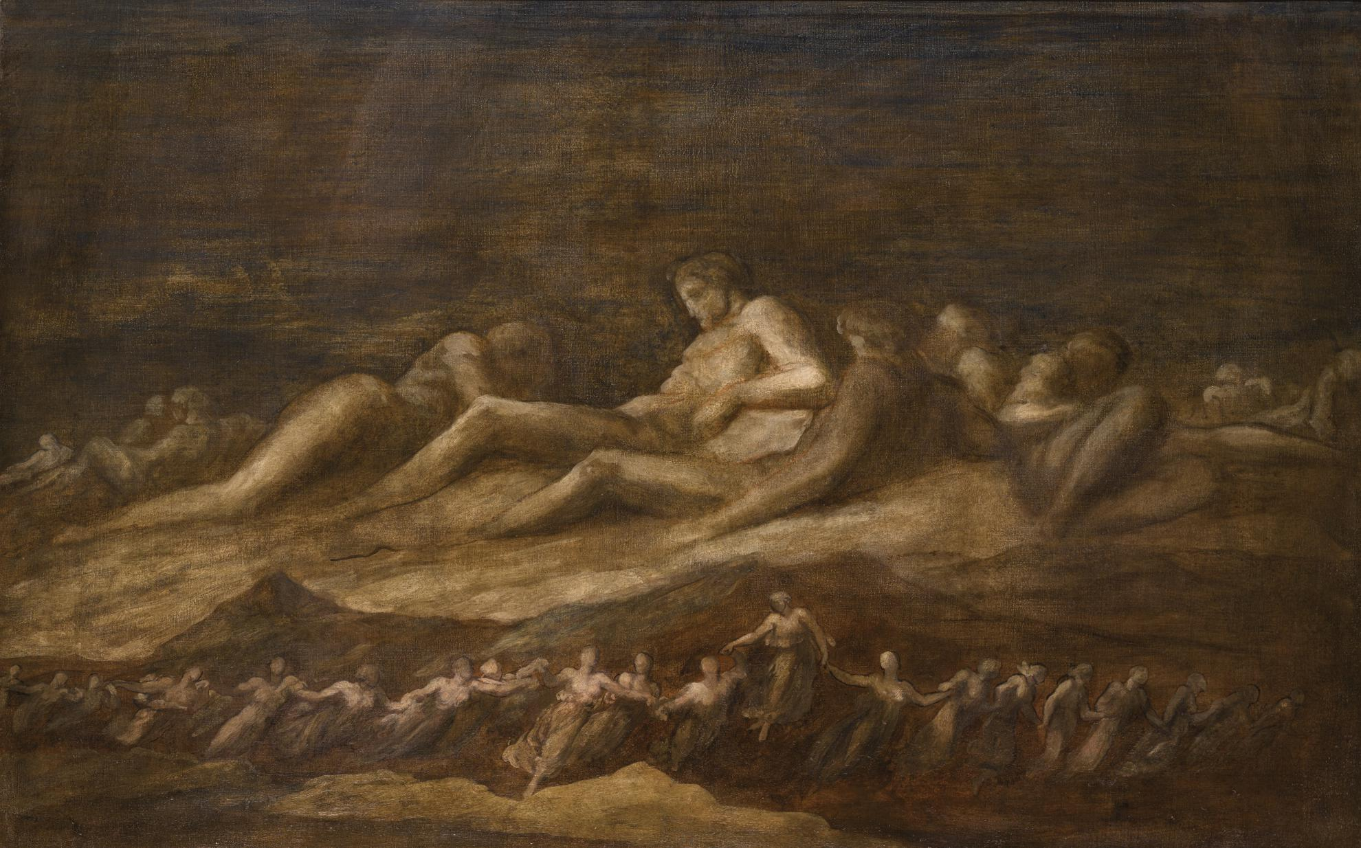 George Frederic Watts - The Titans-