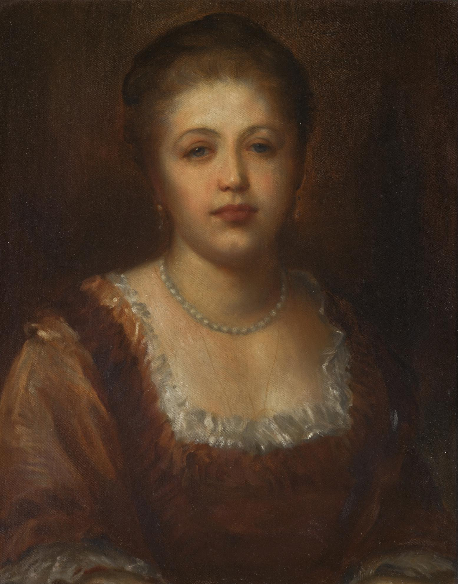 George Frederic Watts - Portrait Of Miss Hannah Rothschild-