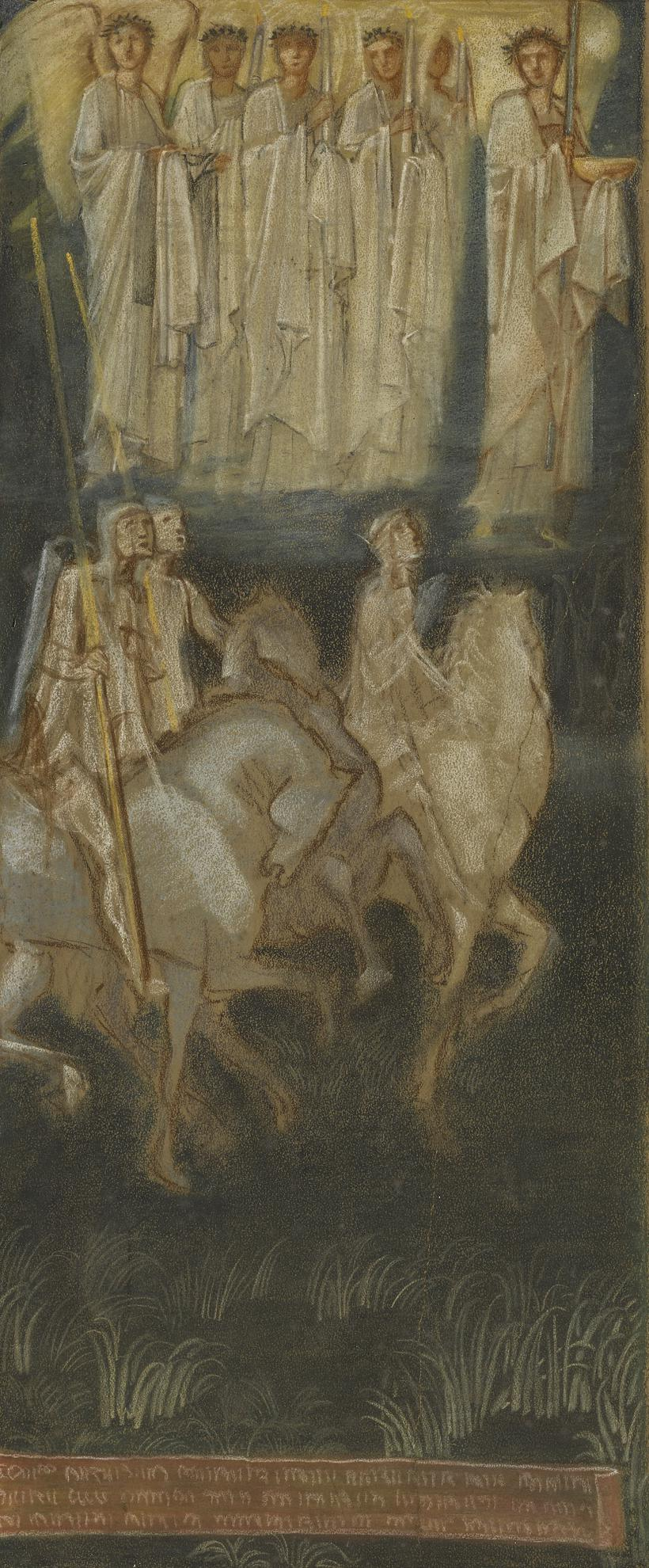 Sir Edward Coley Burne-Jones Bt. - Study For The Valiant Knight-