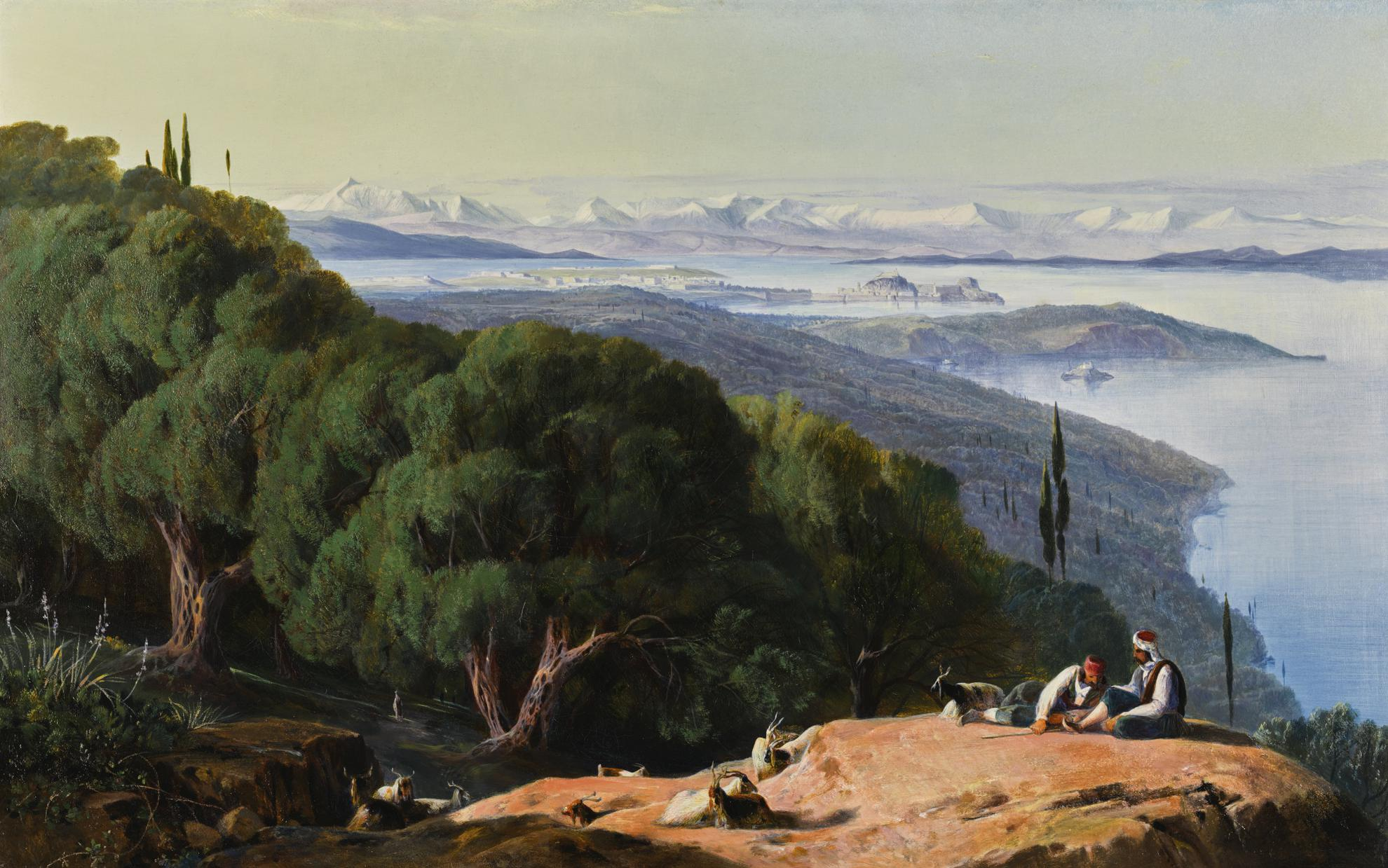 Edward Lear - Corfu From The Hill Of Gastouri-1858