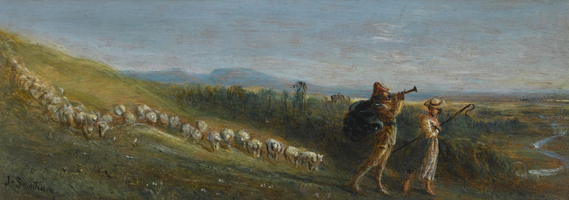 James Smetham - Piping Down The Valleys-
