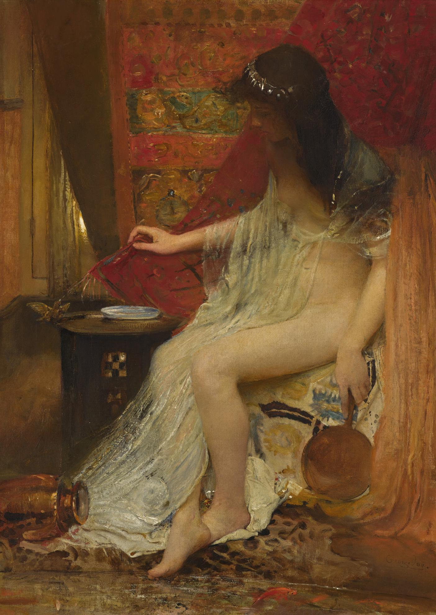 George William Joy - Lesbias Sparrow, Catullus-