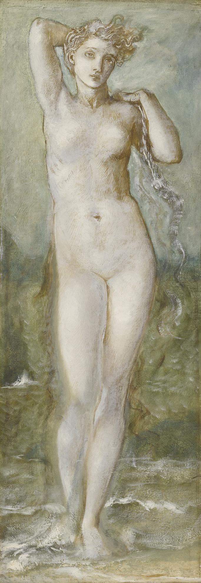 Sir Edward Coley Burne-Jones Bt. - Venus Rising From The Sea-