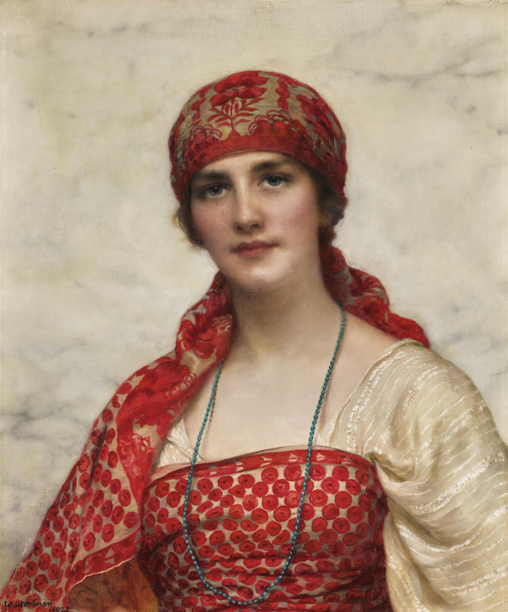 William Clarke Wontner - The Emerald Necklace-1921