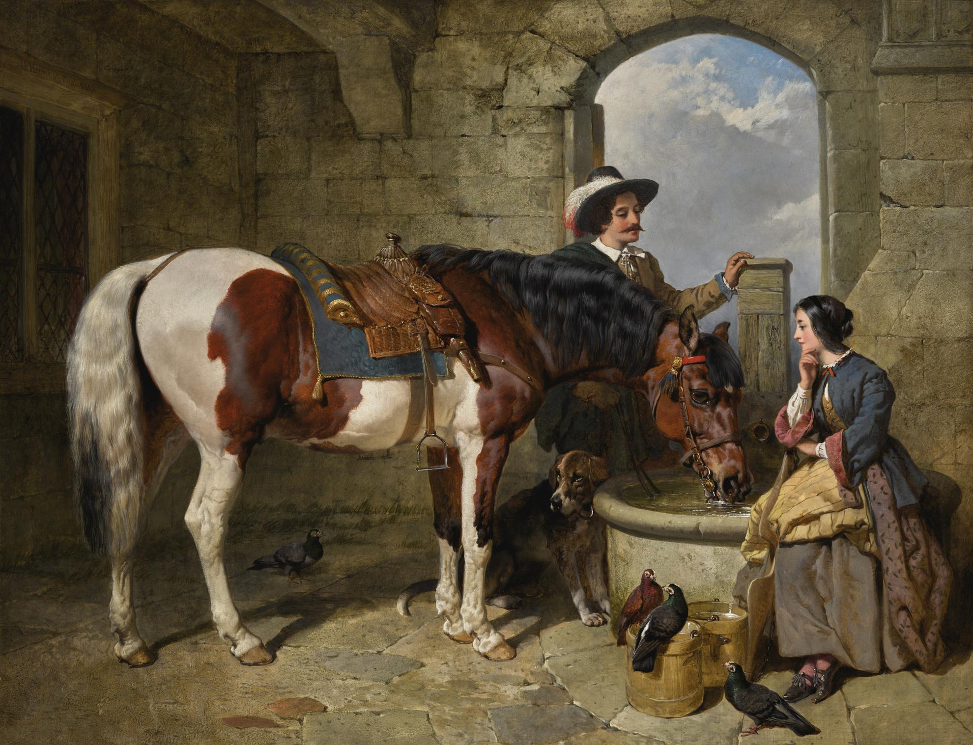 John Frederick Herring Snr. - The Watering Place-1855