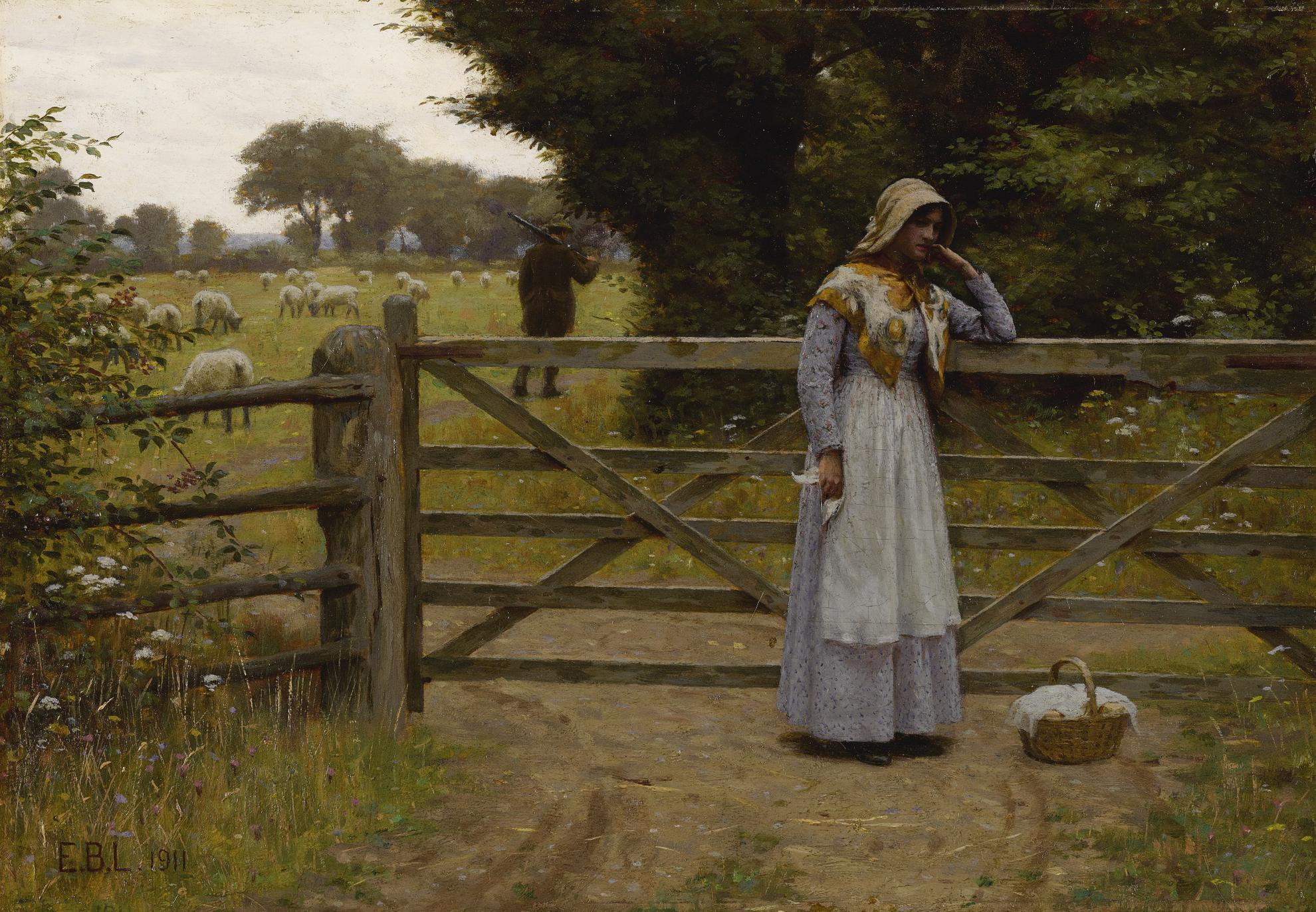 Edmund Blair Leighton - Off-1911
